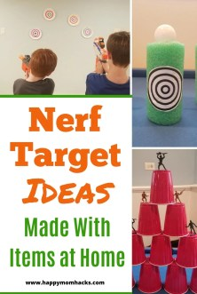 DIY Nerf Targets & Games ideas to entertain the kids while at home. Use items you have in your house to make cool Nerf targets they'll love playing.