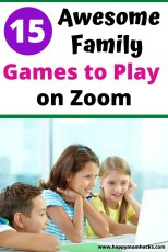 Best Family Games to Play on Zoom. Kids will love these virtual game ideas to play with friends and family through Zoom or Facetime. Stay connected and have fun while we are all stuck at home. #zoomgames #gamesonzoom #familygames #gamesforkids #virtualgames
