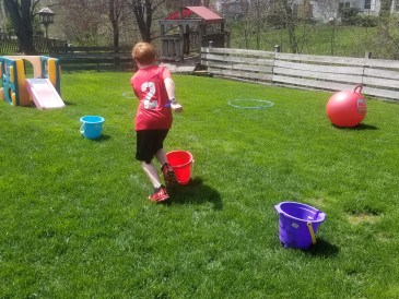 Fun Backyard Obstacle Course for kids backyard birthday parties.