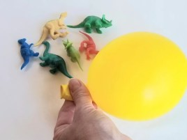 Make Frozen Dinosaur Eggs at home for a fun science experiment.