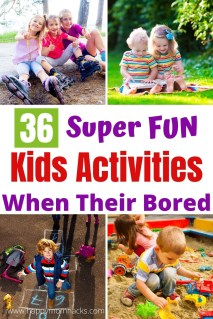 Fun Indoor & Outdoor Kids Activities when their bored. Free printable lists to create an I'm Bored Jar. Games & activities they can do on their own while you work or get things done at home. Keep the kids entertained and happy all summer long. #kidsactivities  #activitiesforkids #imboredjar #indooractivities #outdooractivities