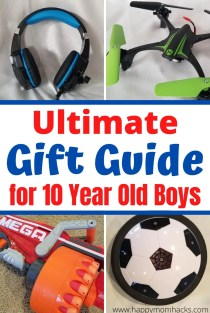 20 Cool Boys Gift Ideas for 10-12 Year olds. Tween boys will love these unique birthday gifts and holiday gifts. They will be so excited to open these cool gifts. #boygifts #giftideasforkids #birthdaygifts #holidaygifts