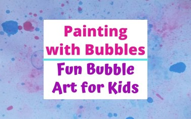 Easy Bubble Painting Art for Kids. A fun kids craft with bubbles, paint or food dye. Quick to make for kids of all ages with items you have in your home. They love making this unique bubble art. #bubbleart #bubblepainting #artforkids #kidscraft