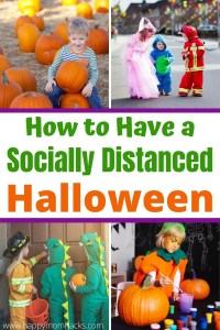 How to Have a Socially Distanced Halloween with Kids. 15 fun activities, virtual parties, games, yard decorations, parades and more. Everything you need to make Halloween 2020 amazing even if you can't be with friends. #halloween #virtualparty #zoomgames #activitiesforkids #kids #halloweengames #halloweenactivities #socialdistancing