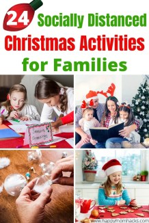 Fun Christmas Activities & Traditions for Families while Social Distancing. You can still have a great Christmas in 2020 with these entertaining Holiday ideas for kids. Find out how to celebrate Christmas at home and virtually connect with family and friends. Make it the Best Christmas ever! #christmas #christmasactivities #christmastraditions #christmasideas #holidays #kids #familychristmas #christmaswithkids #christmasathome