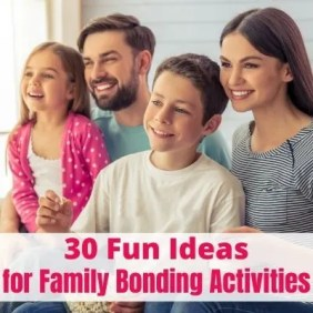 Cheap Family Bonding Activities at Home. Spend quality times with kids connecting through fun family activities, games & crafts. Find easy & quick things to do with kids you can fit into your busy life. Start now and build a better connection with your kids. #familybonding #familytime #familyactivities #familygames #familynight #kidsactivities #quilitytime #kidsathome