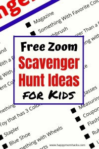 Best Zoom Scavenger Hunt with Students or for virtual parties. A fun party game or brain break for kids during remote learning. Great for holiday parties or family zoom parties too. Kids love this fun and easy games. So print it out and try it today! #zoomgames #scavengerhuntwithstudents #virtualclassroom #virtualpartygame #kidsgame #freeprintable