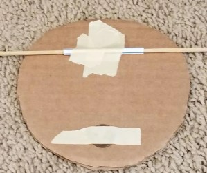 Spinner for Cardboard Nerf Targets using a penny as a weight and straw to help the target spin.