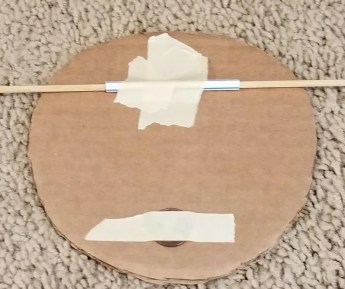 Cardboard Spinner to make your Nerf Targets using a penny as a weight and straw to help the target spin.