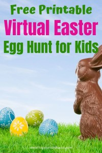 Fun Virtual Easter Egg Hunt & Party for Kids. Free printable Easter Egg Hunt clues to use Virtually when you can't see your family in person for Easter. Don't miss out on fun Eater Traditions host a Virtual Easter Party so you can all be together. Find out how easy and fun it is to do!