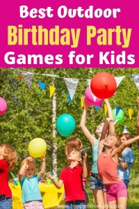 Best Outdoor Birthday Party Games for Kids in Your Backyard. Fun DIY party game ideas kids will love playing. Find the perfect party game for your next outdoor party. #outdoorparty #partygames #kidsgames #birthdaypartygames #backyardparty