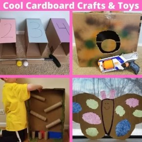 10 Things to Make out of Cardboard Boxes. Fun cardboard craft ideas and toys kids will love playing with at home.