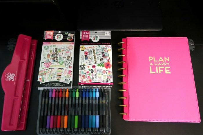happy planner set up