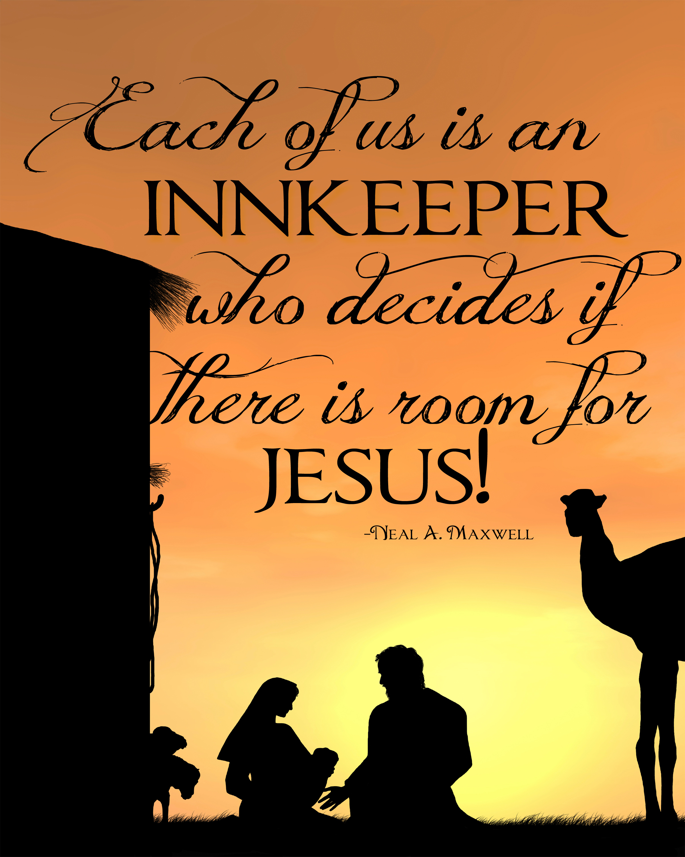 Each Of Us Is An InnKeeper Who Decides If There Is Room
