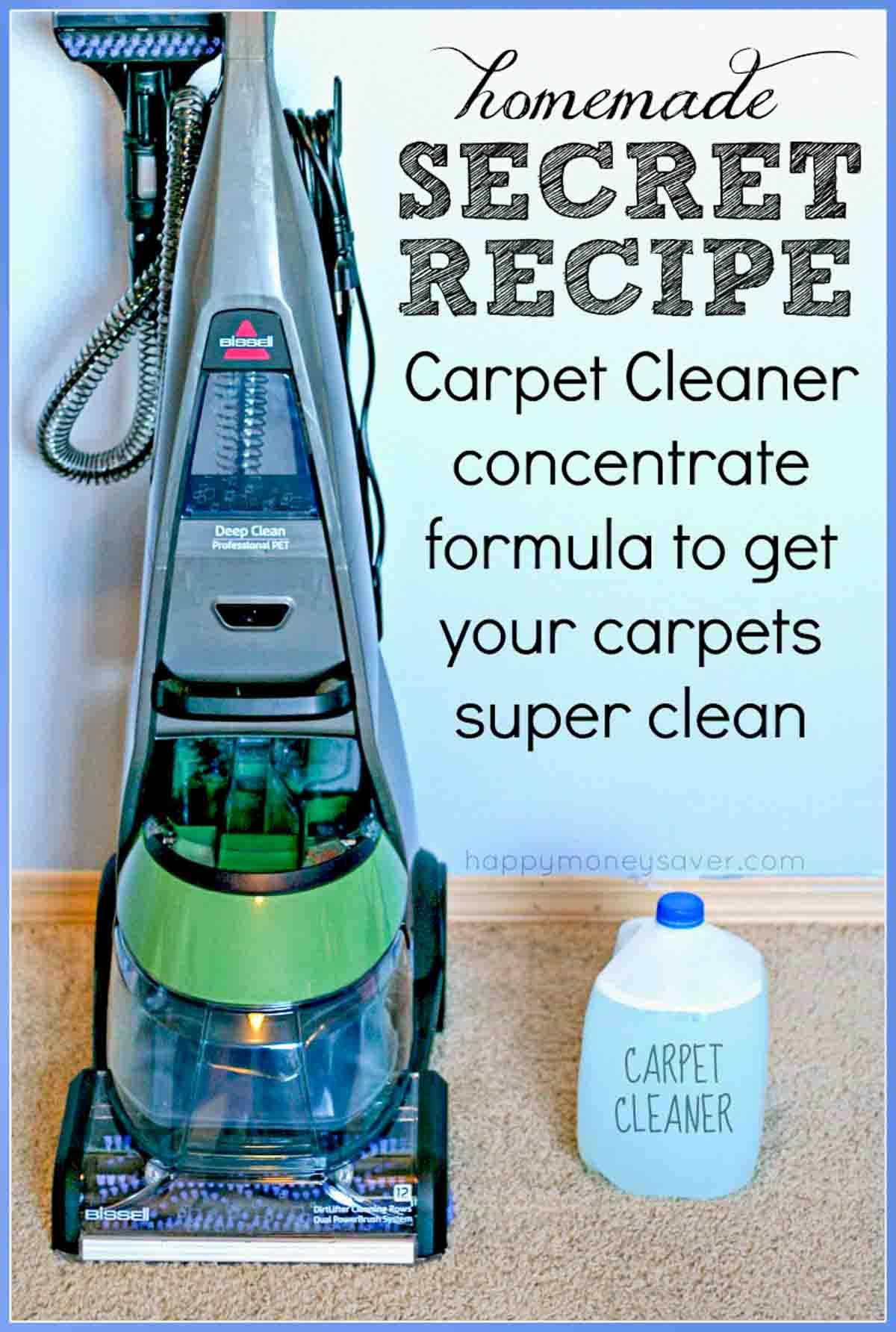 Best Homemade Carpet Cleaner Solution Happymoneysaver