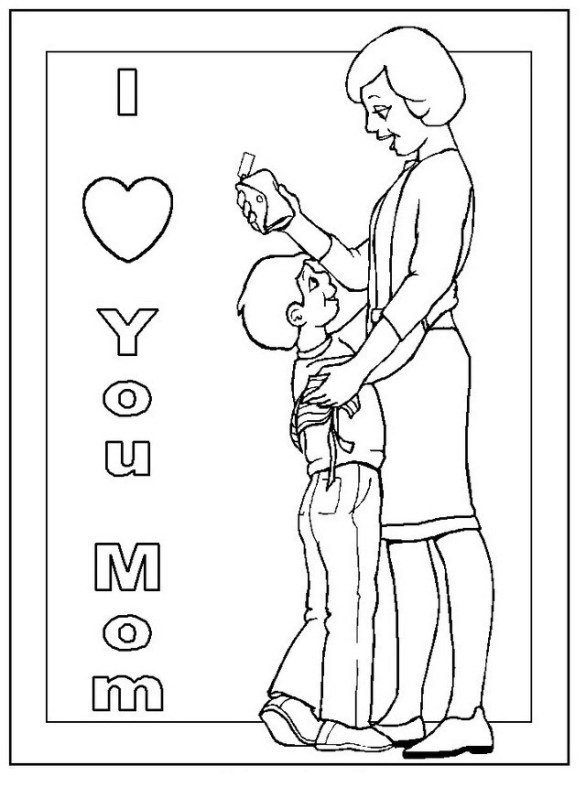 coloring page for mama