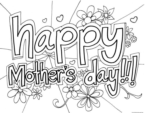 Mother Day Coloring Sheets 2021