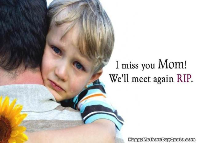 sad quotes from kids after mother death