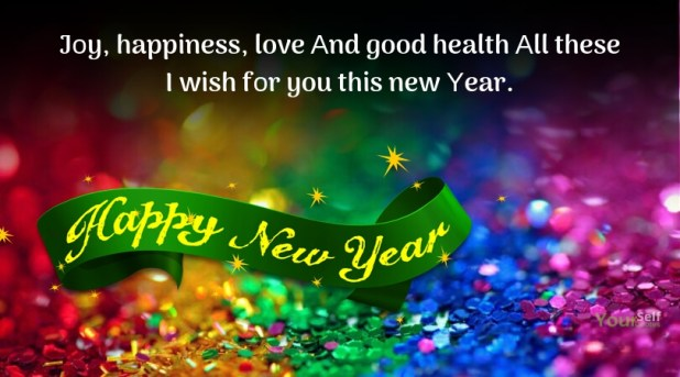 Happy New Υear Greetings Joy Happiness Love