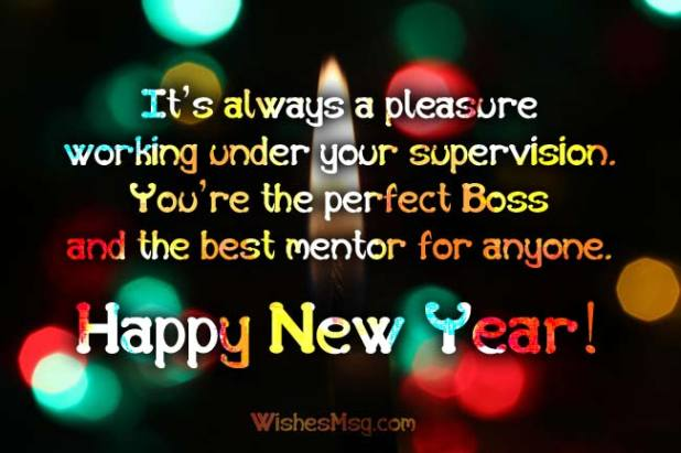 Happy New Year Greetings For Boss