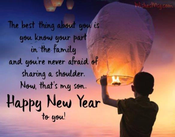 Happy New Year Message For Son