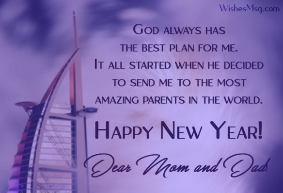 Happy New Year Messages For Parents