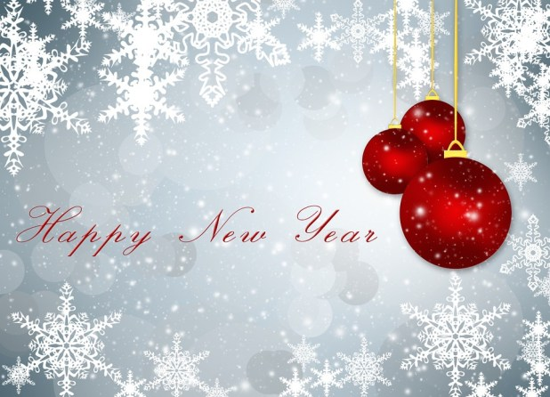 Happy New Year Christmas Decoration Card