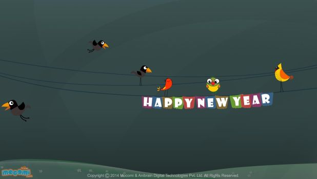 Cartoon Cool Happy New Year Wishes Wallpaper