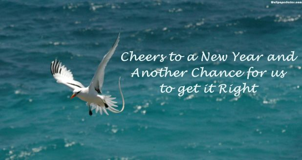 Cheers To New Year Greetings Wallpaper