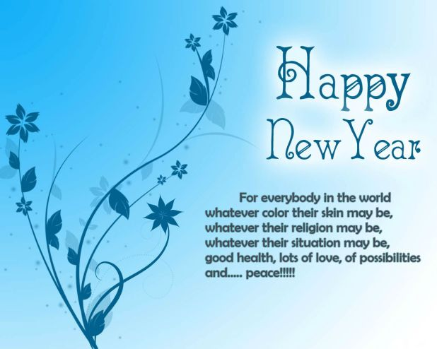 Colorful Happy New Year Quotes Wallpaper