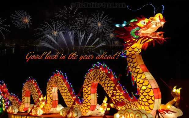 Happy New Year Dragon Greetings