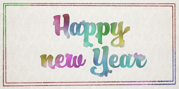 Happy New Year Paintings Backgroubds For Facebook Cover Photos