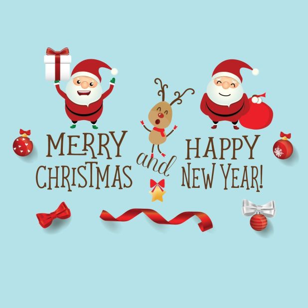 Merry Christmas And Happy New Year Santa Wishes 1