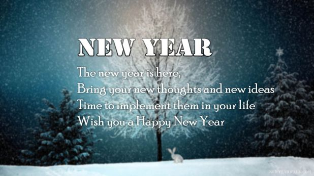 New Year Is Here Wallpaper