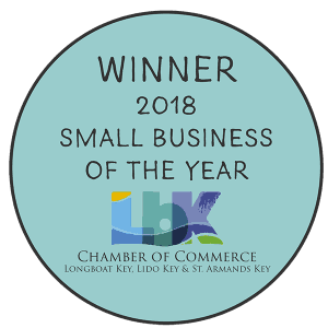 Winner of the 2018 small business of the year Longboat Key chamber of commerce