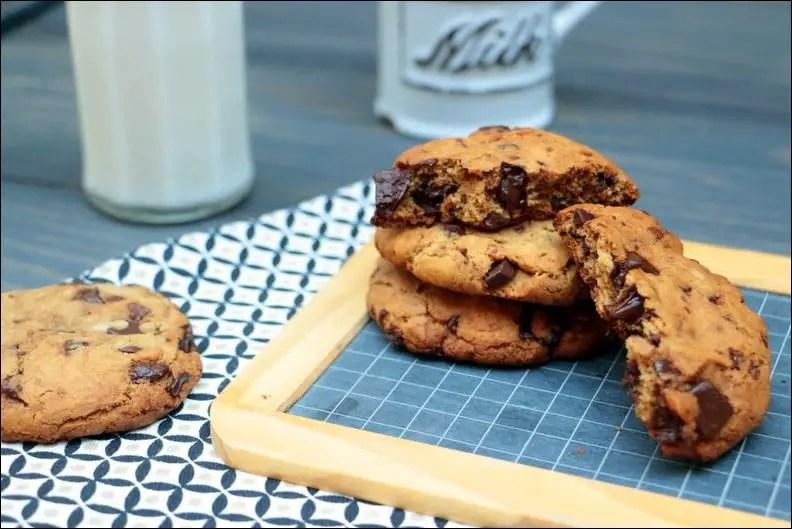 American cookies aux pépites de chocolat – sans gluten et sans lactose
