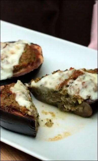 aubergines farcies sans viande