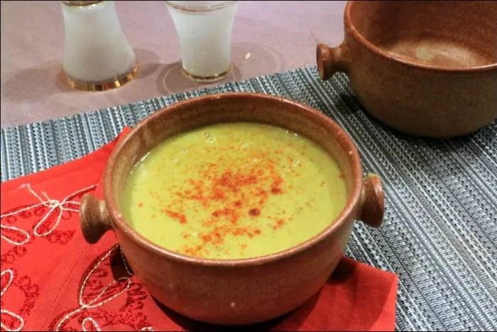soupe de pois cassés marocaine