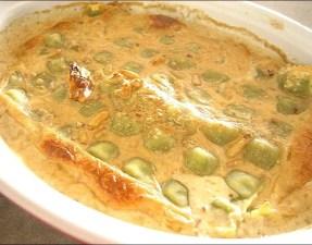 gratin de ravioles au saint marcellin et aux noix
