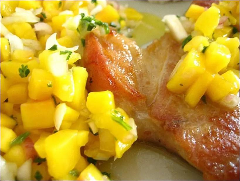 cote veau salsa mangue
