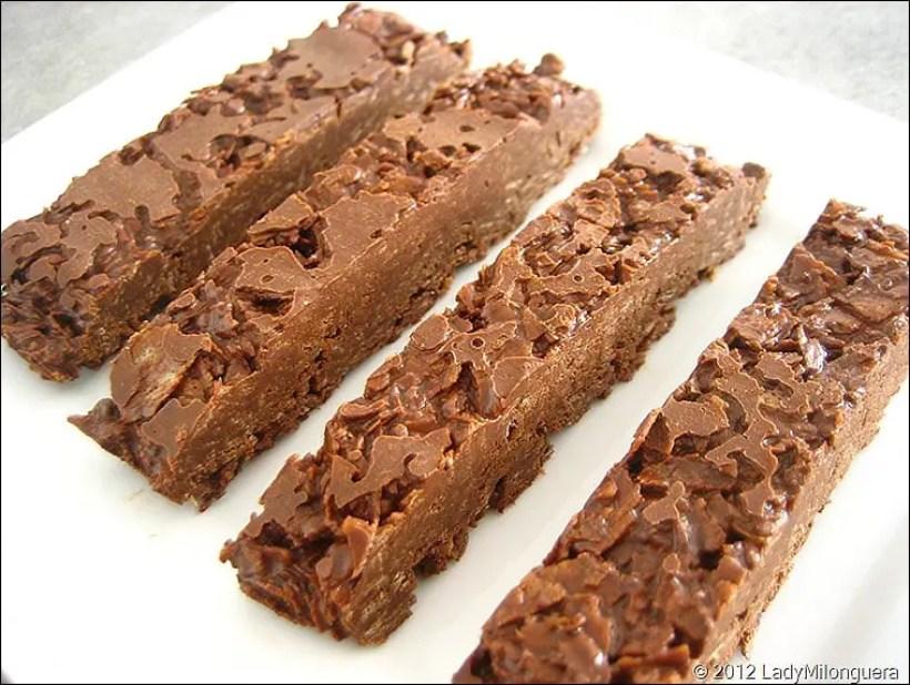 barres gourmandes chocolat noisette