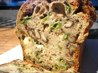 cake aux noix roquefort et haricots