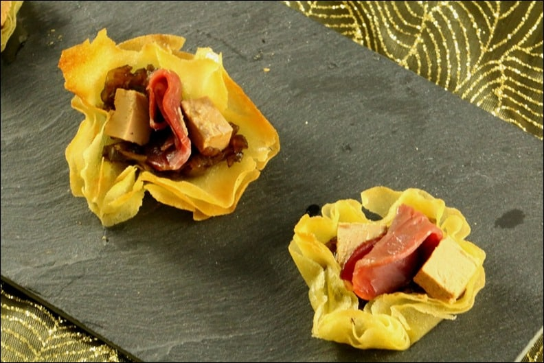 bouchees apero foie gras