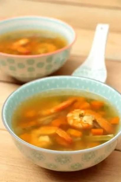 bouillon crevettes citronnelle