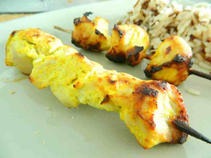 brochettes de dinde au curry