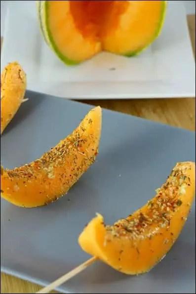 brochettes de melon