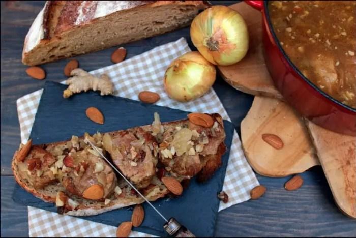 ragoût de filet mignon de porc aux amandes et gingembre