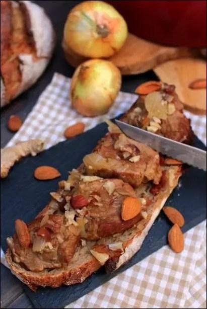 filet mignon porc gingembre amandes