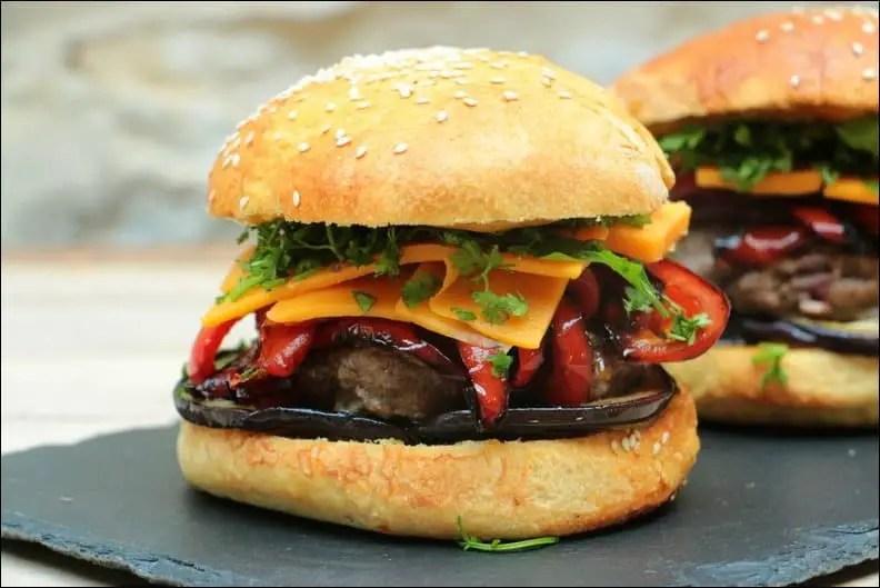 burger boeuf cheddar