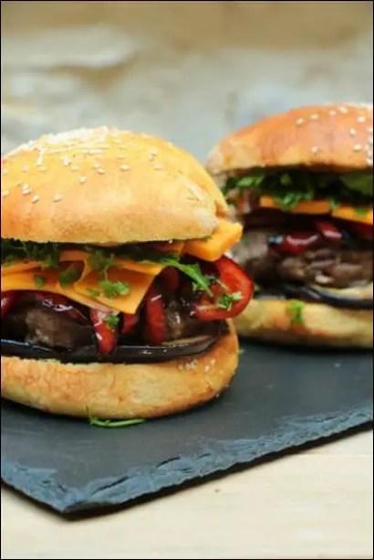 burger boeuf aubergine